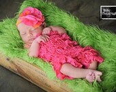 Etsy SPECIAL sale. Hot Pink Bubble lace petti romper / ruffles bloomer..3 sizes available newborn to 3t/4t. Great photo prop. you pick size