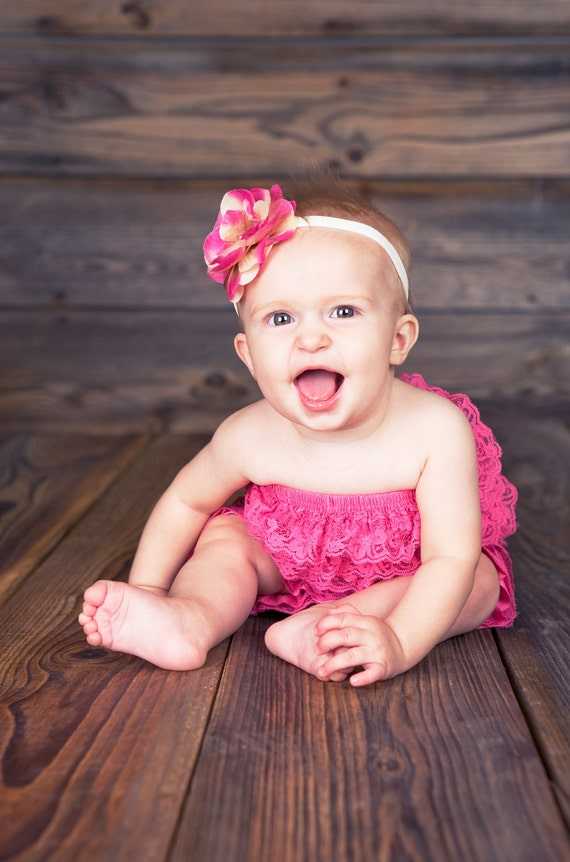 SPECIAL sale. Light Fuchsia Bubble lace petti romper / ruffles bloomer sizes available newborn to 3t/4t. Great photo prop. you pick size