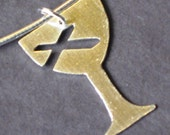 Brushed Sterling Chalice Pendant (Disciples of Christ) for Week of Compassion by Resurrection Silver