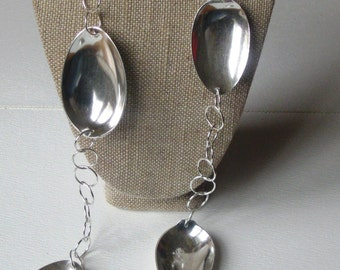 Large Spoon Bowl Link Necklace by Resurrection Silver