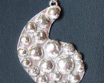 Recycled Sterling Silver Paisley Pendant