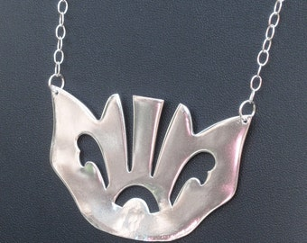 Sterling Silver Necklace - Bacon Fork