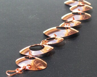 Copper Organic O Bracelet