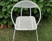 Vintage Metal Folding Chair Garden Cottage Chic