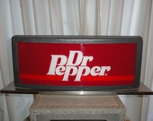 "Vintage Dr. Pepper Advertising Sign Light Store Display 19"" wide"