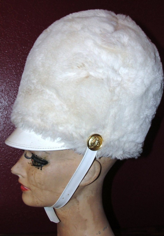 Vintage Uniform Hat Drum Majorette Halloween Costume Major