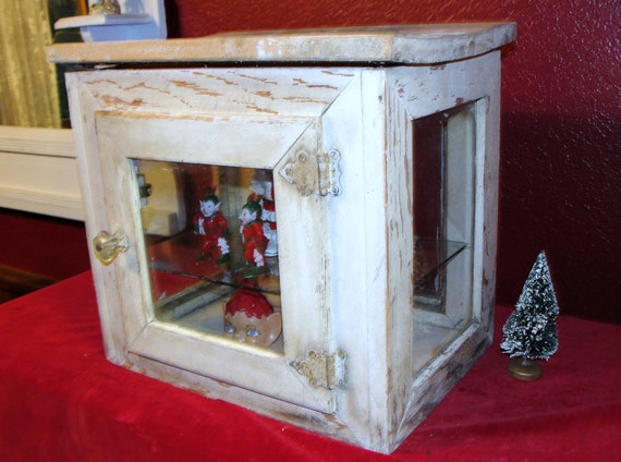 Vintage Store Display Case Bakery Worn Wood By