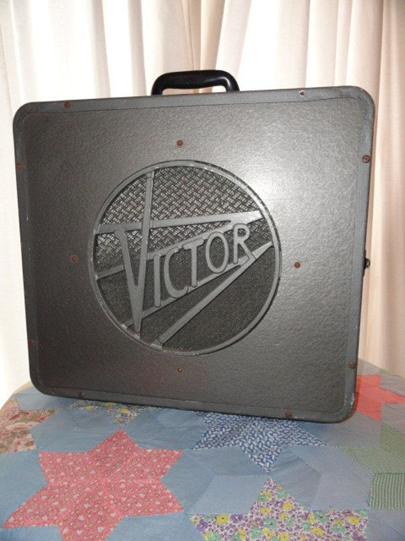 Vintage Industrial Speaker Victor Metal Amplifier Band