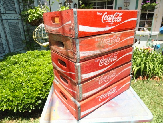Vintage Coca Cola Soda Box Crate Coke Case