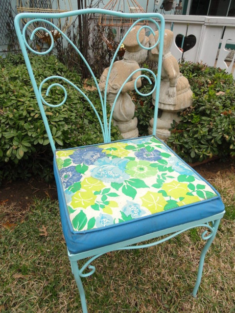 Reserved For Cherryleopard Vintage Garden Chairs Aqua