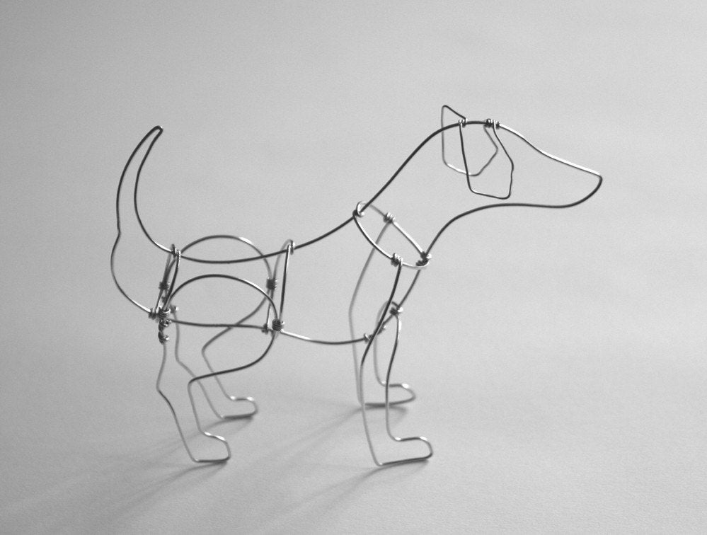 dog wire sculpture