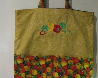 Bell Pepper Tote or Eco Friendly Purse