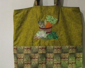 Veggies Eco Friendly Bag, Tote, Market Tote or Purse