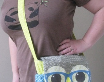 Geeky Nerd Owl Bag or Purse