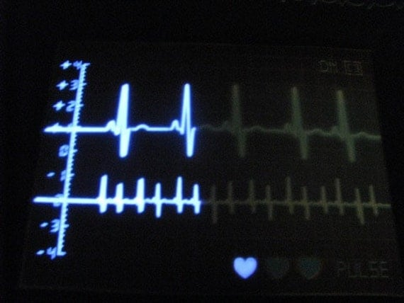 Sound and Touch Activated Heart Monitor EKG Panel Eco Friendly Tote, Purse, market bag, bag