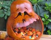 Halloween Gourd Jack-O-Lantern Candy Dish