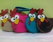 Leather Chicken Coins Purse