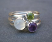 Sweet Stack rings size 7