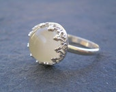 Handmade White Moonstone  Ring