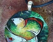 Nurturing Heart Glass Pendant