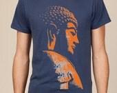 Buddha on Navy  T shirt