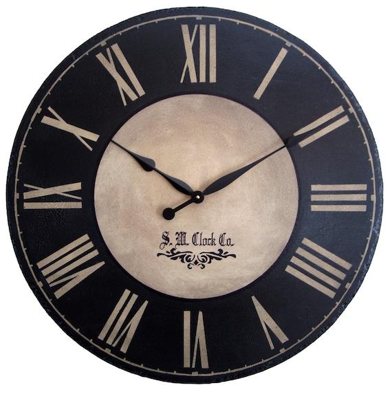 Items Similar To Large Wall Clock 36 Inch Port Royal