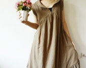 Peter pan collar Simply Kaki Cotton Dress