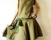 Happy with Simply Olive-Green dress