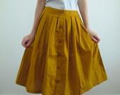 60's Style Full Skirt  in Mustard
