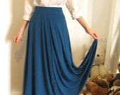 1970's Style Maxi Vintage High Waist Skirt