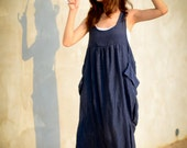 Overall Jumper Blue Dress, Long Dress, Jumper Dress, Jumper, Casual Dress, Blue Dress