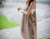 Sale 30% off/ Overall Jumper Beige Dress , Jumper, Long dress, Casual Dress