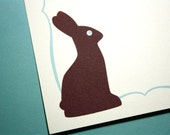 Chocolate Easter Bunny Personalized Stationery - set of 8