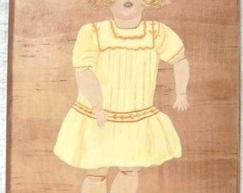 Doll, Vintage, German Simon\/Halbig Painting