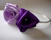 amethyst and lilac roses love wedding tiara