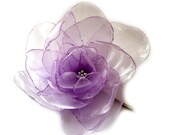 sweet lilac big rose blossom flower bobby pin