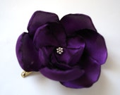 the secrets of amethyst plum rose blossom wedding flower snap clip