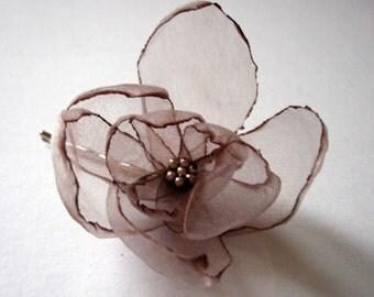 romantic chocolate coffee rose blossom flower bobby pin
