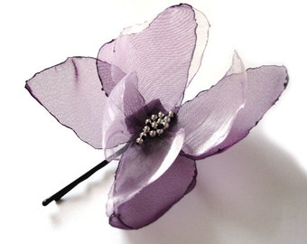 dreams of butterfly lilac purple hair pin