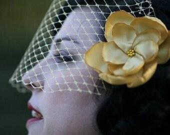 glitzy gold rose blossom wedding flower snap clip
