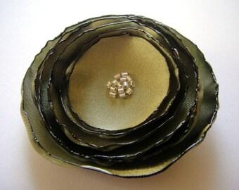 endive mint green rose flower brooch
