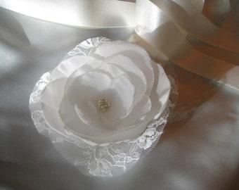 sparkling lace bridal sash or headband