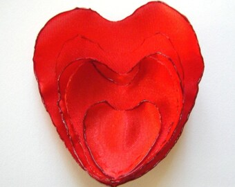 be my valentine, my heart is yours brooch