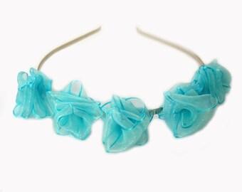 aqua love rose garden tiara for weddings
