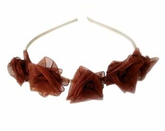 chocolate coffee love rose garden tiara for weddings