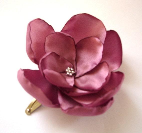 dusty rose blossom wedding flower snap clip