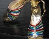 60's 70's Amalfi, Italian Shoes.  Vintage, Hippie, Ethnic, Boho, Summer of LOVE.  Woodstock