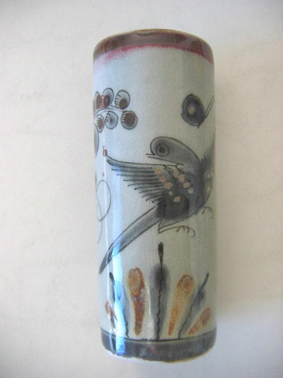 1960 S Ken Edwards Vase Tonala Mexico Pottery Signed