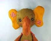 Elephant Art Doll - Plush Elephant