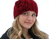 Scarlet Flower Headband